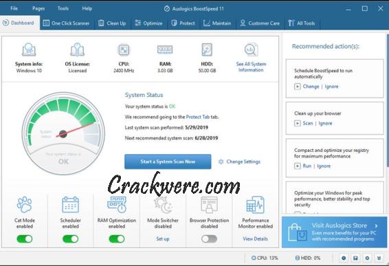 Auslogics BoostSpeed 12.0 Crack License Key 2021 Free Download